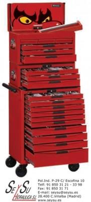 Carro 10 cajones 2 cofres 1001 herramientas tcmm1001n - Carro herramientas taller ...