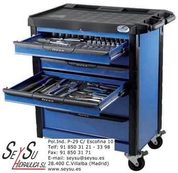 Carro herramientas 160 piezas taller mecanico 165350109 for Cajon herramientas taller
