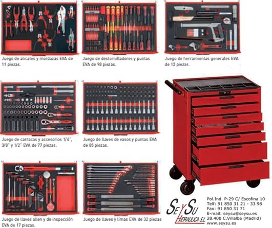 Carro herramientas con 333 piezas para taller mecanico - Carro herramientas taller ...