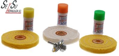 Juego 7 piezas para pulir metales blandos bgs 3990 seysu for Pasta para pulir metales