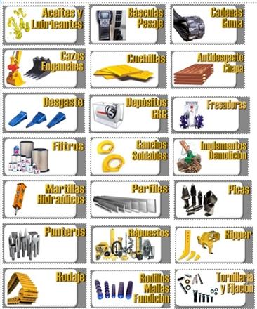 Catalogo Dientes y Portadientes Material Desgaste Excavadora Mini ...