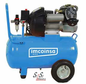 Compresor de aire piston correas 3hp deposito 50 lt 230v for Compresor de aire bricodepot