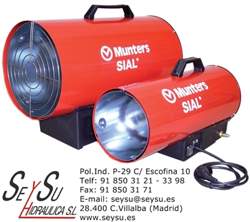 Generador de aire caliente de gas propano o butano kid 80a - Generador electrico a gas butano ...