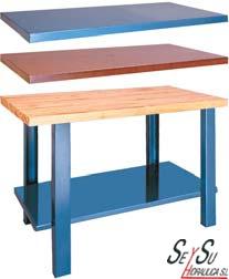 Mesa de trabajo metalica 1000 mm heco 11210 banco de for Dimensiones mesa de trabajo