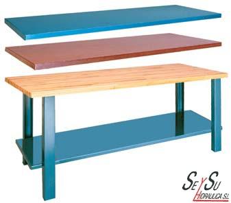 mesa de trabajo metalica 1800 mm heco 11218 banco de
