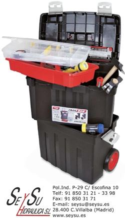 Caja de herramientas con ruedas trail box 58 tayg 158001 - Cajas para herramientas con ruedas ...