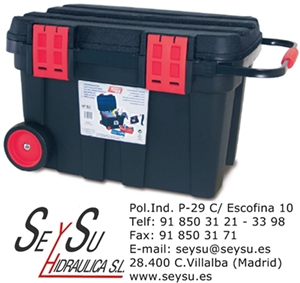Caja de herramientas con ruedas cofre 54 tayg 154003 - Cajas de plastico con ruedas ...