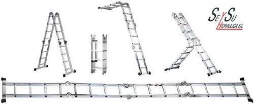 Escalera aluminio multiusos 4x4 werku wk700020 seysu for Escalera multiusos